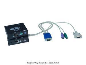 NTI st-c5kvmrs-r-600 VGA PS/2 KVM Extender (Receiver) with RS232 via CATx to 600ft