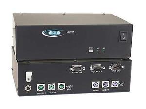 NTI vopex-2kvim-a 2-Port VGA PS/2 KVM Splitter