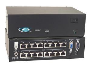 NTI vopex-c5v-16 16-Port VGA Splitter/Extender via CATx to 600ft
