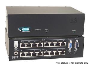 NTI vopex-c5va-16 16-Port VGA Splitter/Extender w Audio via CATx/600ft