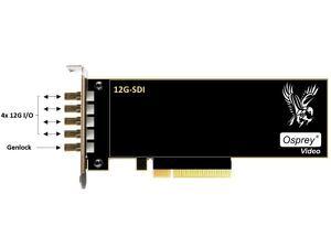 Osprey 95-00515 Quad 12G SDI I/O Genlock Capture Card (1245)