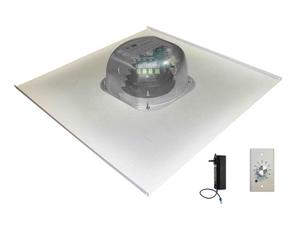 OWI 2X2AMP-HD2S61SVC 6 inch Three Source/Integratable Amplified/2X2 Metal Tile/In Ceiling Speaker with Volume Control