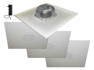 OWI 2X2AMP-HD2S64 6 inch Three Source/Integratable Amplified/2X2 Metal Tile/In Ceiling Speaker with 3x 2X2IC6NA Speakers