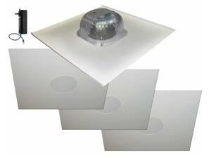 OWI 2X2AMP-HDTR64 6 inch Three Source/Integratable Amplified/2X2 Metal Tile/In Ceiling Speaker/Transformer with 3x 2X2IC6NA Speakers