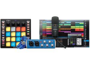 PreSonus ATOM Producer Lab 16-pad USB MIDI Controller/AudioBox USB 96/M7 Microphone/Studio One Artist