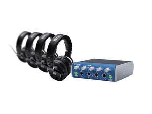 PreSonus HD9 / HP4 Pack Pack 4-Channel Headphone Amplifier with 4 Closed-Back Headphones
