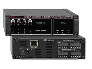 RDL RU-LB4P 4x4 Line-Level Bi-Directional Network Interface w POE