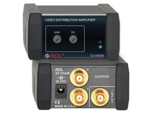 RDL EZ-VDA2B 1X2 BNC NTSC/PAL Video Distribution Amplifier