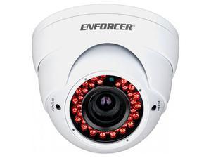 SECO-LARM EV-Y2201-AMWQ 4-in-1 HD TVI/CVI/AHD/Analog Rollerbal IR Varifocal Camera/2.8-12mm lens/White