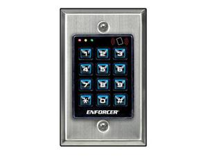 SECO-LARM SK-1131-SPQ Indoor Illuminated Stand-Alone Access Control Keypad with 1200 users and three outputs