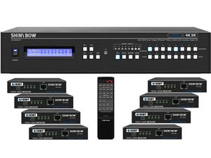 Shinybow SB-5688CAP-8x35R5-Kit 8x8 4K UHD HDBaseT PoH Matrix Switcher Kit/1 x SB-5688CAP Switch/8 x SB-6335R5 Receivers