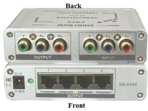 Shinybow SB-6340T CAT5 COMPONENT VIDEO Extender (TRANSMITTER)