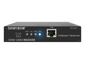 Shinybow SB-6353R HDMI HDBaseT Extender (Receiver) with PoH/2-Way IR/RS-232 up to 330ft (100M)