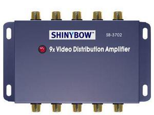 Shinybow SB-3702-b 1x9 Composite Video Splitter