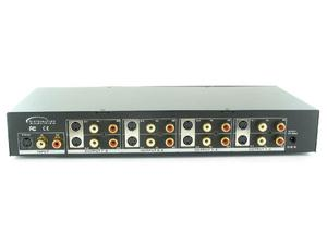 Shinybow SB-3709M 1x8 S-Video/Stereo Audio Distribution Amplifier