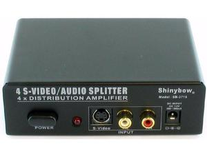 Shinybow SB-3716-b 1x4 S-VIDEO plus AUDIO DISTRIBUTION AMPLIFIER SPLITTER