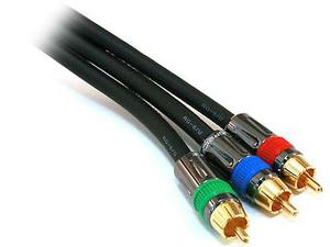 Shinybow 2769 PREMIUM 6FT 3-RCA Component Video Coaxial RG-6 18AWG CABLE