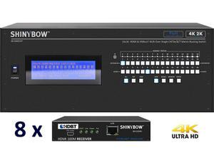 Shinybow SB-5669CKP-8x35R5-Kit 16x16 4K UHD HDBaseT PoH Matrix Switcher Kit/ SB-5669CKP Switch/8 x SB-6335R5 Receivers
