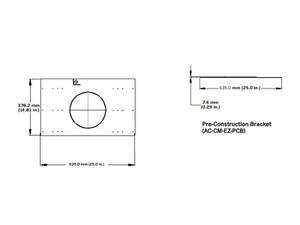 Soundtube AC-CM-EZ-PCB CM-EZ-II pre-construction bracket