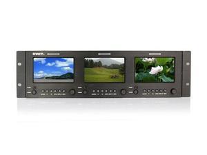 SWIT M-1051H Triple 5-inch SDI/HDMI Rack LCD Monitor