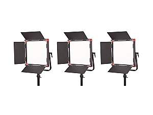 SWIT PL-E60S 3-light Kit 12x12 inch Bi-Color Smd Panel Led Light Kit with V-mount/Tripod/Trolley case