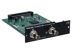 TASCAM IF-MA64/BN 64-Ch MADI Coaxial I/O card for DA-6400