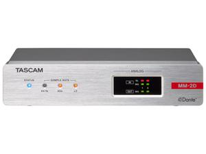 TASCAM MM-2D-X 2-Channel Mic/Line Input/Output Dante XLR Converter with built-in DSP Mixer
