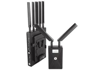 VidOvation VLK-REACHER-1500-VL VidOlink Reacher 1500ft Wireless Video Extender (Transmitter/Receiver) with V-Lock Battery Mount on the Rx