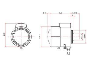 ViewZ VZ-A256VDC 1/3 inch Vari-Focal with DC Auto-Iris 2.5-6mm F1.4 - CS-Mount