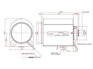 ViewZ VZ-B16X65DC-4W 1/2 inch Motorized Zoom with DC Auto-Iris 6.5-104mm F-1.4 C-Mount