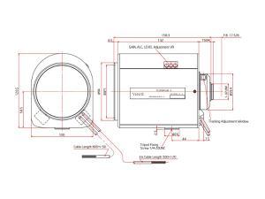 ViewZ VZ-B16X65MAI-4W 1/2 inch Motorized Zoom with Video Auto-Iris 6.5-104mm F-1.4 C-Mount