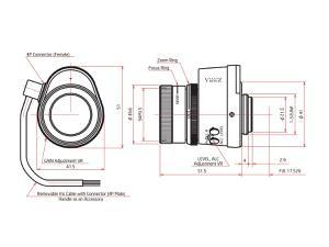 ViewZ VZ-B612AI 1/2 inch Vari-Focal with Video Auto-Iris 6-12mm F1.4 - C-Mount