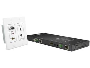 WyreStorm TX-SW-IW-0201-KIT HDMI/VGA over HDBaseT Auto-Switching 2-Gang Decora In-Wall 4K UHD Extender (Transmitter/Receiver) Kit