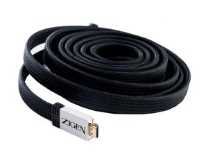 Zigen ZIG-6001B-G-5 m 5m 18Gbps 4K UHD HDMI Type A to A Flat Cable/Nylon Sleeve